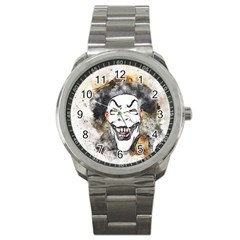 Mask Party Art Abstract Watercolor Sport Metal Watch
