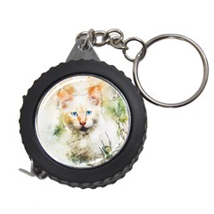 Cat Animal Art Abstract Watercolor Measuring Tape