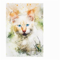 Cat Animal Art Abstract Watercolor Small Garden Flag (two Sides) by Celenk
