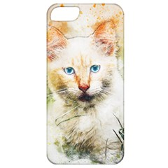 Cat Animal Art Abstract Watercolor Apple Iphone 5 Classic Hardshell Case