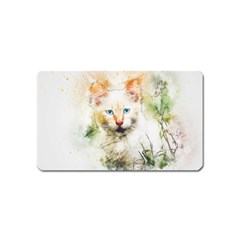 Cat Animal Art Abstract Watercolor Magnet (name Card) by Celenk