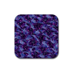 Techno Grunge Punk Rubber Coaster (square)  by KirstenStar