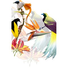 Exotic Birds Of Paradise And Flowers Watercolor 5 5  X 8 5  Notebooks by TKKdesignsCo