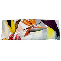 Exotic Birds Of Paradise And Flowers Watercolor Body Pillow Case (dakimakura) by TKKdesignsCo