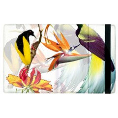 Exotic Birds Of Paradise And Flowers Watercolor Apple Ipad 2 Flip Case by TKKdesignsCo