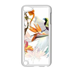 Exotic Birds Of Paradise And Flowers Watercolor Apple Ipod Touch 5 Case (white)