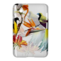 Exotic Birds Of Paradise And Flowers Watercolor Samsung Galaxy Tab 2 (7 ) P3100 Hardshell Case  by TKKdesignsCo