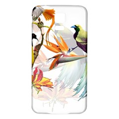 Exotic Birds Of Paradise And Flowers Watercolor Samsung Galaxy S5 Back Case (white)
