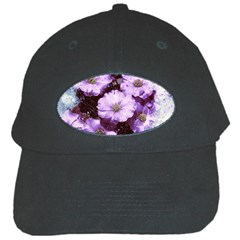 Flowers Purple Nature Art Abstract Black Cap