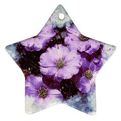 Flowers Purple Nature Art Abstract Ornament (star)