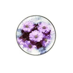 Flowers Purple Nature Art Abstract Hat Clip Ball Marker by Celenk