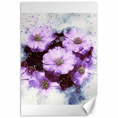 Flowers Purple Nature Art Abstract Canvas 24  X 36