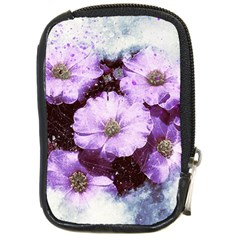 Flowers Purple Nature Art Abstract Compact Camera Cases by Celenk