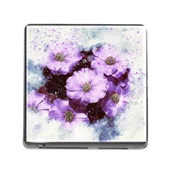 Flowers Purple Nature Art Abstract Memory Card Reader (square) by Celenk