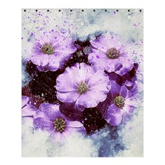 Flowers Purple Nature Art Abstract Shower Curtain 60  X 72  (medium)  by Celenk