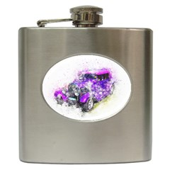 Car Old Car Art Abstract Hip Flask (6 Oz)