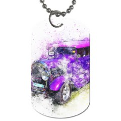 Car Old Car Art Abstract Dog Tag (two Sides) by Celenk