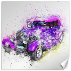 Car Old Car Art Abstract Canvas 16  X 16