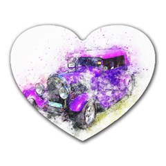 Car Old Car Art Abstract Heart Mousepads by Celenk