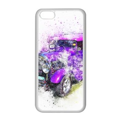 Car Old Car Art Abstract Apple Iphone 5c Seamless Case (white) by Celenk