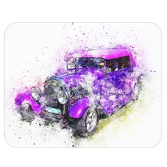 Car Old Car Art Abstract Double Sided Flano Blanket (medium)  by Celenk
