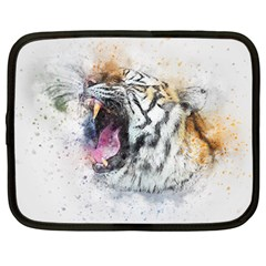 Tiger Roar Animal Art Abstract Netbook Case (large) by Celenk