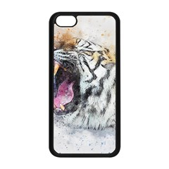 Tiger Roar Animal Art Abstract Apple Iphone 5c Seamless Case (black) by Celenk