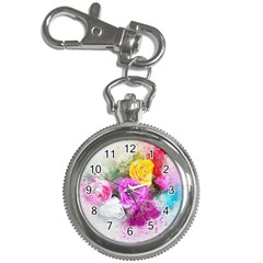 Flowers Bouquet Art Abstract Key Chain Watches by Celenk