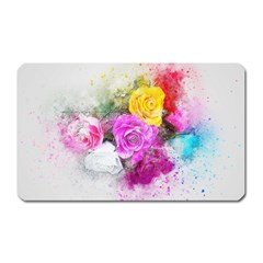 Flowers Bouquet Art Abstract Magnet (rectangular) by Celenk