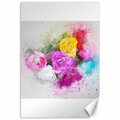 Flowers Bouquet Art Abstract Canvas 12  X 18