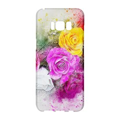 Flowers Bouquet Art Abstract Samsung Galaxy S8 Hardshell Case  by Celenk