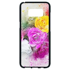 Flowers Bouquet Art Abstract Samsung Galaxy S8 Black Seamless Case