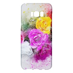 Flowers Bouquet Art Abstract Samsung Galaxy S8 Plus Hardshell Case  by Celenk