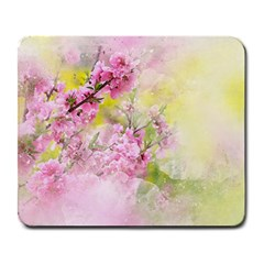 Flowers Pink Art Abstract Nature Large Mousepads by Celenk