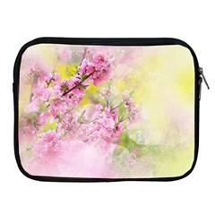 Flowers Pink Art Abstract Nature Apple Ipad 2/3/4 Zipper Cases