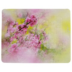 Flowers Pink Art Abstract Nature Jigsaw Puzzle Photo Stand (rectangular) by Celenk