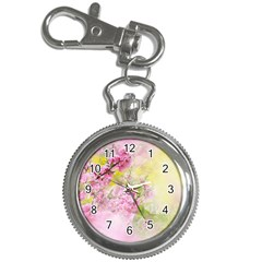 Flowers Pink Art Abstract Nature Key Chain Watches