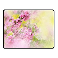 Flowers Pink Art Abstract Nature Fleece Blanket (small) by Celenk