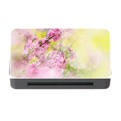 Flowers Pink Art Abstract Nature Memory Card Reader With Cf