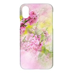 Flowers Pink Art Abstract Nature Apple Iphone X Hardshell Case