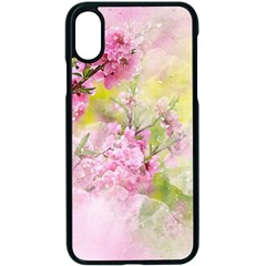Flowers Pink Art Abstract Nature Apple Iphone X Seamless Case (black) by Celenk