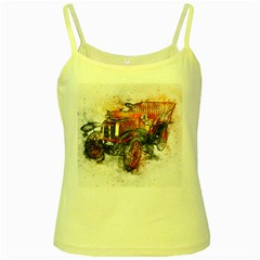 Car Old Car Art Abstract Yellow Spaghetti Tank by Celenk