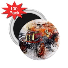 Car Old Car Art Abstract 2 25  Magnets (100 Pack)
