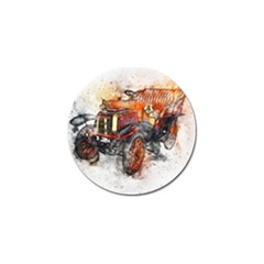 Car Old Car Art Abstract Golf Ball Marker by Celenk