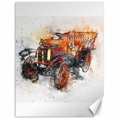 Car Old Car Art Abstract Canvas 12  X 16