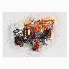Car Old Car Art Abstract Large Glasses Cloth