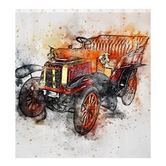 Car Old Car Art Abstract Shower Curtain 66  X 72  (large)  by Celenk