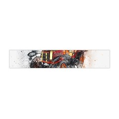 Car Old Car Art Abstract Flano Scarf (mini) by Celenk