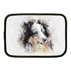 Dog Shetland Pet Art Abstract Netbook Case (medium)  by Celenk