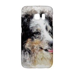 Dog Shetland Pet Art Abstract Galaxy S6 Edge by Celenk